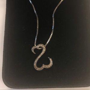 Jane Seymour open heart necklace 925